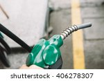 petrol refuelling close up | Shutterstock . vector #406278307