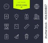 office vector light line icons... | Shutterstock .eps vector #406300807