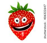 strawberry cartoon character.... | Shutterstock .eps vector #406322647