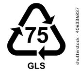 glass recycling symbol 75 gls ... | Shutterstock .eps vector #406336837