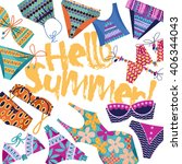 hello summer  background with... | Shutterstock .eps vector #406344043