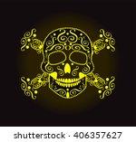 skulls and crossbones vector...