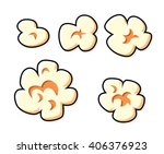 popcorn set isolated. | Shutterstock .eps vector #406376923