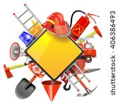 vector fire prevention signboard | Shutterstock .eps vector #406386493