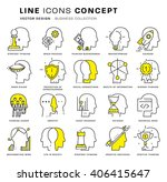 thin line icons set. business... | Shutterstock .eps vector #406415647