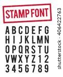 stamp typeface   Shutterstock .eps vector #406422763