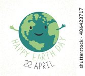 earth day illustration. earth... | Shutterstock .eps vector #406423717
