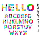 creative artistic colorful font ... | Shutterstock .eps vector #406429477