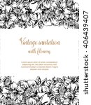 invitation with floral... | Shutterstock . vector #406439407