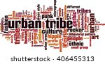 urban tribe word cloud concept. ... | Shutterstock .eps vector #406455313