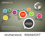 world map with simple pointer... | Shutterstock .eps vector #406464247