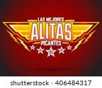 alitas picantes las mejores  ... | Shutterstock .eps vector #406484317