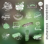 hand drawn stickers and... | Shutterstock .eps vector #406485403