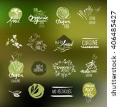 set of hand drawn style labels... | Shutterstock .eps vector #406485427