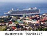 roseau  dominica   circa 2008 ... | Shutterstock . vector #406486837
