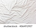 top view of wrinkles on an... | Shutterstock . vector #406491907