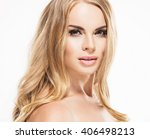 woman blonde hair beauty... | Shutterstock . vector #406498213
