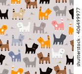 cute cats pattern.  | Shutterstock .eps vector #406499977