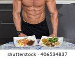 fit young man. bodybuilder in... | Shutterstock . vector #406534837