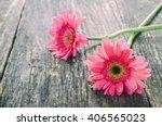 Pink Gerbera Daisy Flower On...