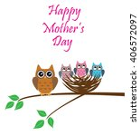 Vector Illustration Of Mother'...