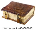 old ancient book with golden... | Shutterstock . vector #406588063