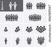 businesswoman icons set. team... | Shutterstock .eps vector #406589047