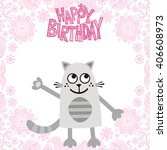 happy birthday greeting card... | Shutterstock .eps vector #406608973