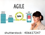 agile lifecycle. process... | Shutterstock . vector #406617247