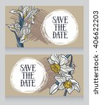two beautiful templates for... | Shutterstock .eps vector #406622203