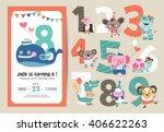 birthday anniversary numbers... | Shutterstock .eps vector #406622263