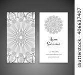 business card or invitation.... | Shutterstock .eps vector #406637407