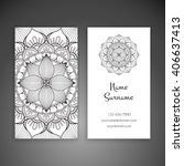 business card or invitation.... | Shutterstock .eps vector #406637413