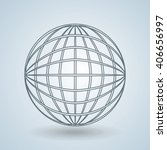 sphere icon design  | Shutterstock .eps vector #406656997