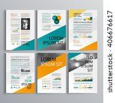 business brochure template... | Shutterstock .eps vector #406676617