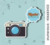 hipster camera design  | Shutterstock .eps vector #406683433