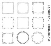 set of square and round frames. ... | Shutterstock .eps vector #406688797