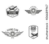 set of airplane show labels.... | Shutterstock .eps vector #406689967