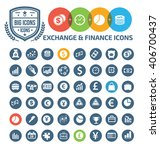 exchange and finance icons...   Shutterstock .eps vector #406700437
