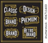 retro vintage logotypes set.... | Shutterstock .eps vector #406711603