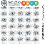 1023 icons commerce shopping... | Shutterstock .eps vector #406720693