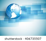 vector background with globe ... | Shutterstock .eps vector #406735507