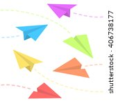 paper planes background | Shutterstock .eps vector #406738177