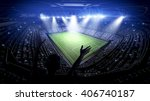 stadium 3d rendering  the... | Shutterstock . vector #406740187