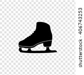skates icon. simple black... | Shutterstock .eps vector #406743253
