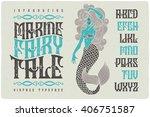 Marine Fairytale Font With...