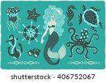 Marine Illustrations Set....