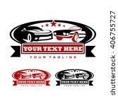 garage logo template and car... | Shutterstock .eps vector #406755727