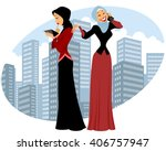 vector illustration of a two... | Shutterstock .eps vector #406757947