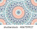 hand drawn gold mandala... | Shutterstock .eps vector #406759927